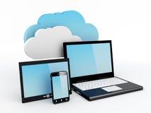 Het Concept van de Gegevensverwerking van de wolk Stock Foto
