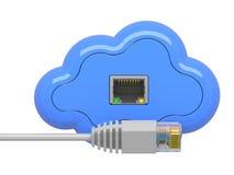 Het Concept van de Gegevensverwerking van de wolk. Royalty-vrije Stock Foto's