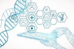 Het concept van de geneeskunde Stock Foto's