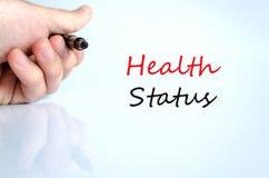 Het concept van de gezondheidsstatus Stock Afbeeldingen