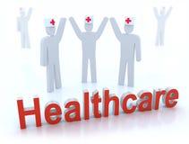 Het concept van de gezondheidszorg dat op wit wordt geïsoleerd vector illustratie