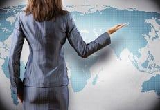 Het concept van de globalisering Stock Afbeeldingen