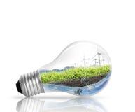 Het concept van de gloeilampen Alternatieve energie Royalty-vrije Stock Afbeelding