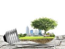 Het concept van de gloeilampen Alternatieve energie Royalty-vrije Stock Afbeeldingen