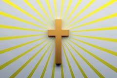 Het concept van de godsdienst Boek en kruis Dwarssymbool van Christendom stock afbeeldingen