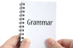 Het concept van de grammaticatekst Royalty-vrije Stock Fotografie