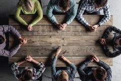 Het concept van de groepswerkvergadering Stock Foto's