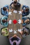 Het concept van de groepswerkvergadering Stock Afbeelding