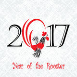 Het concept van de haanvogel Chinees Nieuwjaar van de Haan Grunge vectordiedossier in lagen voor het gemakkelijke uitgeven wordt  royalty-vrije illustratie