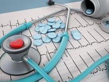 Het concept van de hartgezondheid Royalty-vrije Stock Afbeeldingen