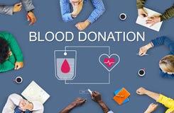 Het Concept van de het Hartzorg van de bloeddonatiehulp stock foto