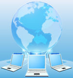 Het concept van de het netwerkwereld van de computer Royalty-vrije Stock Afbeeldingen