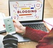 Het Concept van de Homepageinternet van de Bloggingsblog stock afbeeldingen