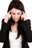 Het concept van de hoofdpijn of van de migraine stock fotografie