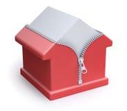 Het concept van de huis thermische isolatie Stock Afbeeldingen
