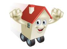 Het concept van de huisbeweging Stock Afbeelding