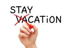 Het Concept van de het Huisvakantie van de Staycation niet Vakantie royalty-vrije stock fotografie