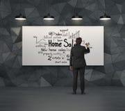 Het concept van de huisverkoop Royalty-vrije Stock Afbeelding