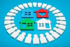Het concept van de huisverkoop, leningslandgoed Huurbetaling, huuragentschap royalty-vrije stock foto's