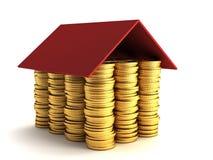 Het concept van de hypotheek Stock Foto