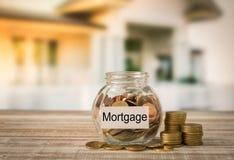 Het concept van de hypotheek stock afbeeldingen