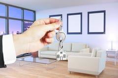 Het concept van de hypotheek Stock Foto's