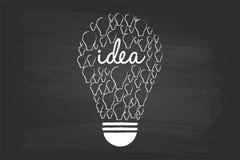 Het Concept van de idee Gloeilamp vector illustratie