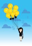 Het concept van de ideeballon stock illustratie