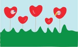Het concept van de de illustratieliefde van hartwormen stock foto's