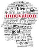 Het concept van de innovatie en van de technologie in markeringswolk Royalty-vrije Stock Fotografie