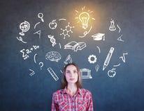 Het concept van de kennis Stock Afbeeldingen