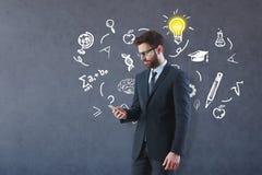 Het concept van de kennis stock afbeelding