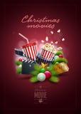 Het concept van de Kerstmisfilm Stock Foto's