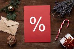Het concept van de Kerstmisverkoop Royalty-vrije Stock Foto
