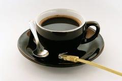 Het Concept van de Koffie van Internet Royalty-vrije Stock Foto