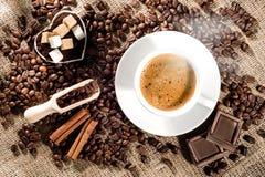 Het Concept van de koffietijd Stock Afbeeldingen