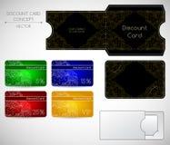Het concept van de kortingskaart Stock Afbeelding