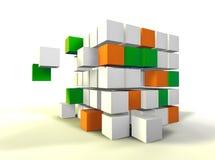 Het concept van de kubus Stock Foto