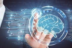 Het concept van de kunstmatige intelligentie Stock Foto