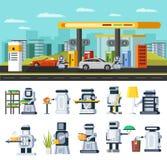 Het concept van de kunstmatige intelligentie royalty-vrije illustratie