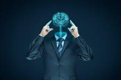 Het concept van de kunstmatige intelligentie stock afbeeldingen