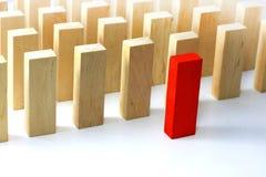 Het concept van de leider en van het team Stock Foto's
