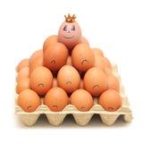 Het concept van de leiding. Hoogste manager in de kroon royalty-vrije stock afbeelding
