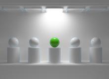 Het concept van de leiding met groen gebied stock illustratie