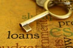 Het concept van de lening stock foto