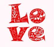 Het concept van de liefde stock illustratie