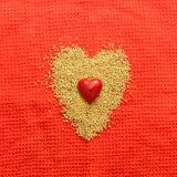 Het concept van de liefde met hart Stock Foto's