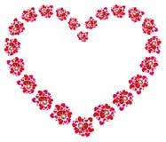 Het concept van de liefde, mooi hart Royalty-vrije Stock Afbeelding
