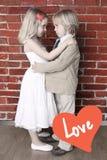 Het concept van de liefde. Valentijnskaart of huwelijksachtergrond Royalty-vrije Stock Fotografie