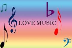 Het concept van de liefdemuziek stock illustratie